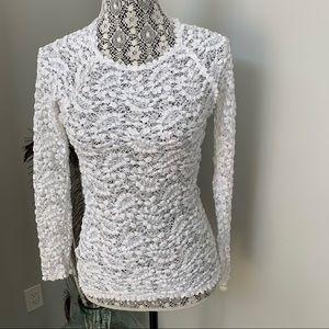ISABEL MARANT Étoile York Lace Top White Size S